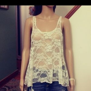 concert by clare Tops - Off white lace top. By concert by Clare. Sz- M